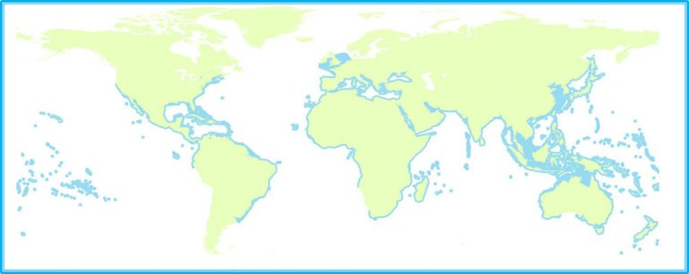 Map of global seahorse distributions